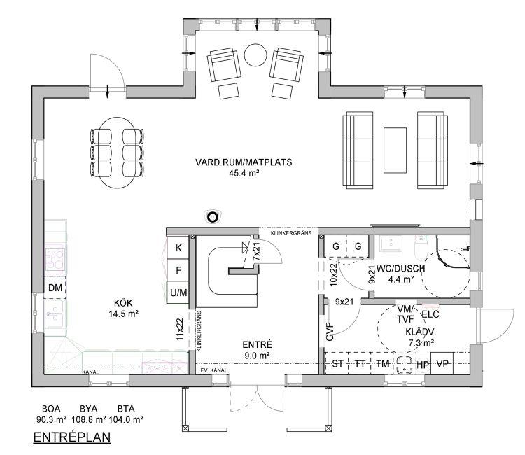 Planlösning Dala Trähus