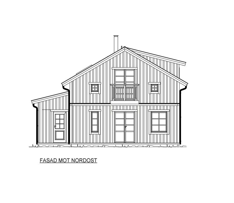 Dalaträhus fasad