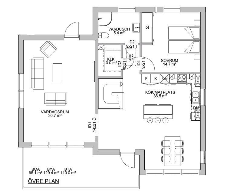 Dala Trähus planlösning