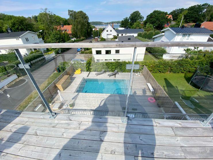 dalaträhus arktitektritat par hus 2plan med pool